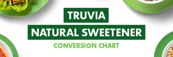 Truva Natural Sweetener Conversion Chart