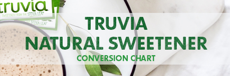 Truvia Natural Sweetener image linking to conversion chart download